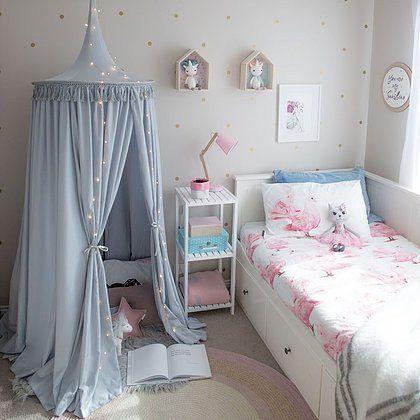 Fred Ava Grey Nursery Canopy Neutral Theme Styling Cute Kids Room Corner Nook Decor Inspiration