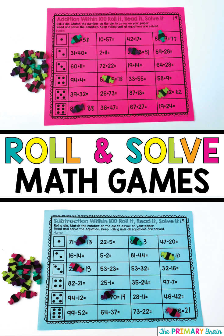 Roll it, Read it, Solve it Addition and Subtraction BUNDLE | little ...