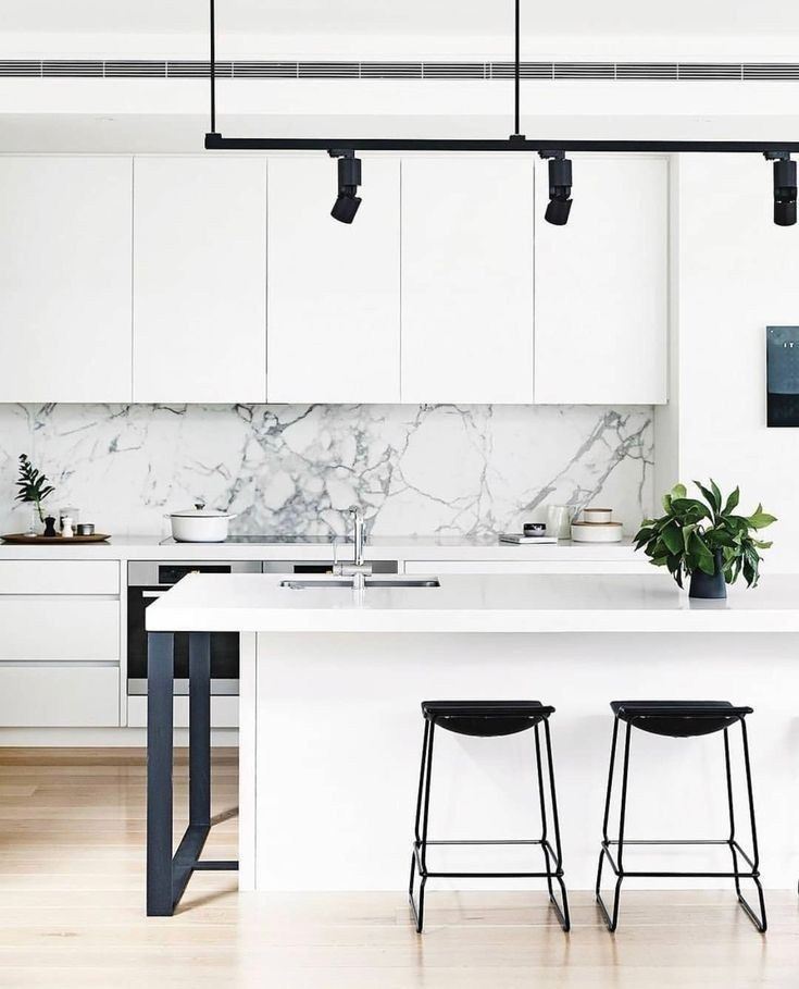 45 minimalist kitchens to get super sleek inspiration 14 | Justaddblog.com #minimalistkitchen