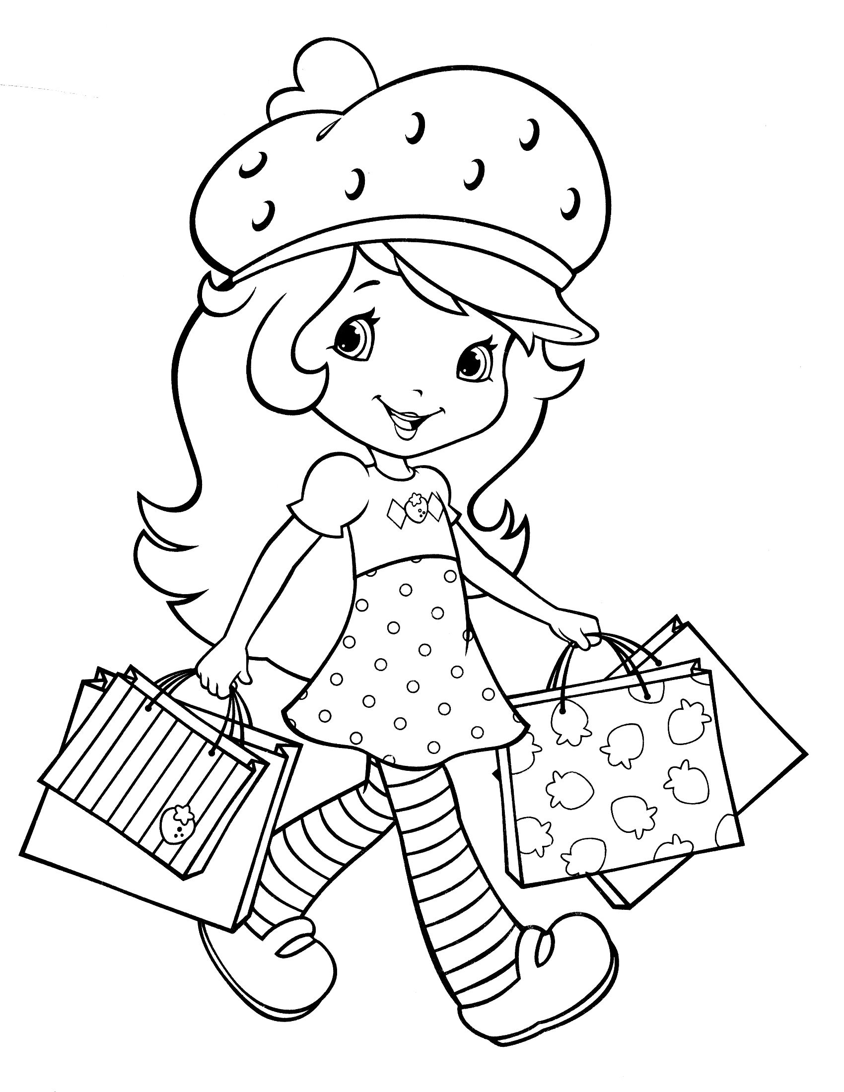 christmas strawberry shortcake coloring pages-#36