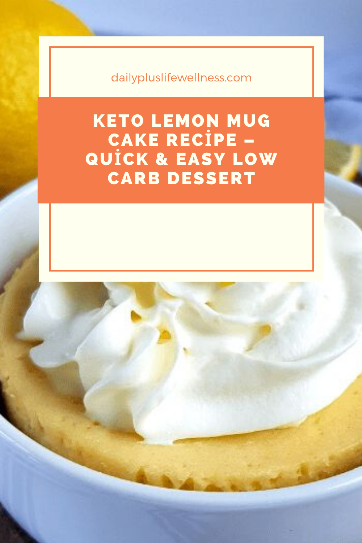 Keto Lemon Mug Cake Recipe - Quick & Easy Low Carb Dessert ...