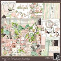 My Girl Digital Scrapbook Discount Bundle at Gotta Pixel. www.gottapixel.net/
