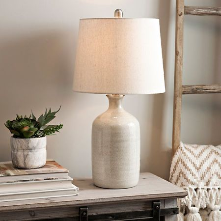 Kirklands Table Lamps Classy Nielson Cream Crackle Ceramic Table Lamp  Ceramic Table Lamps