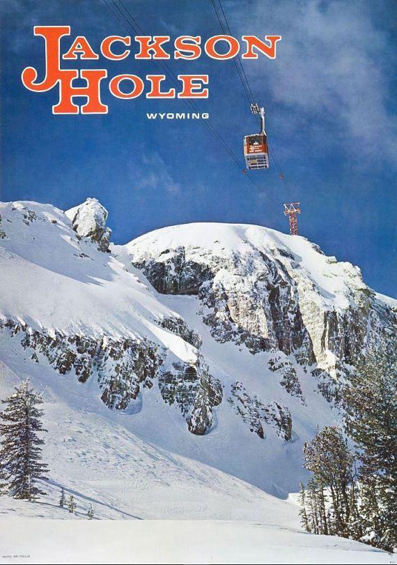 1968 Jackson Hole, Wyoming - Vintage Ski Poster | VINTAGE