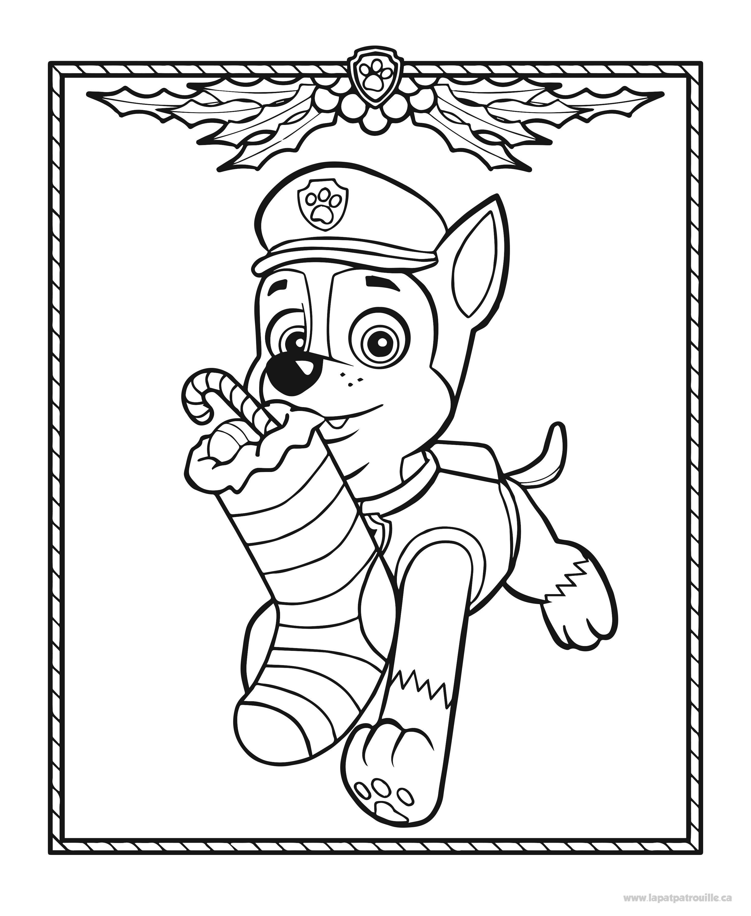 Coloriage La Pat Patrouille Colorear Patrulla Canina Dibujos