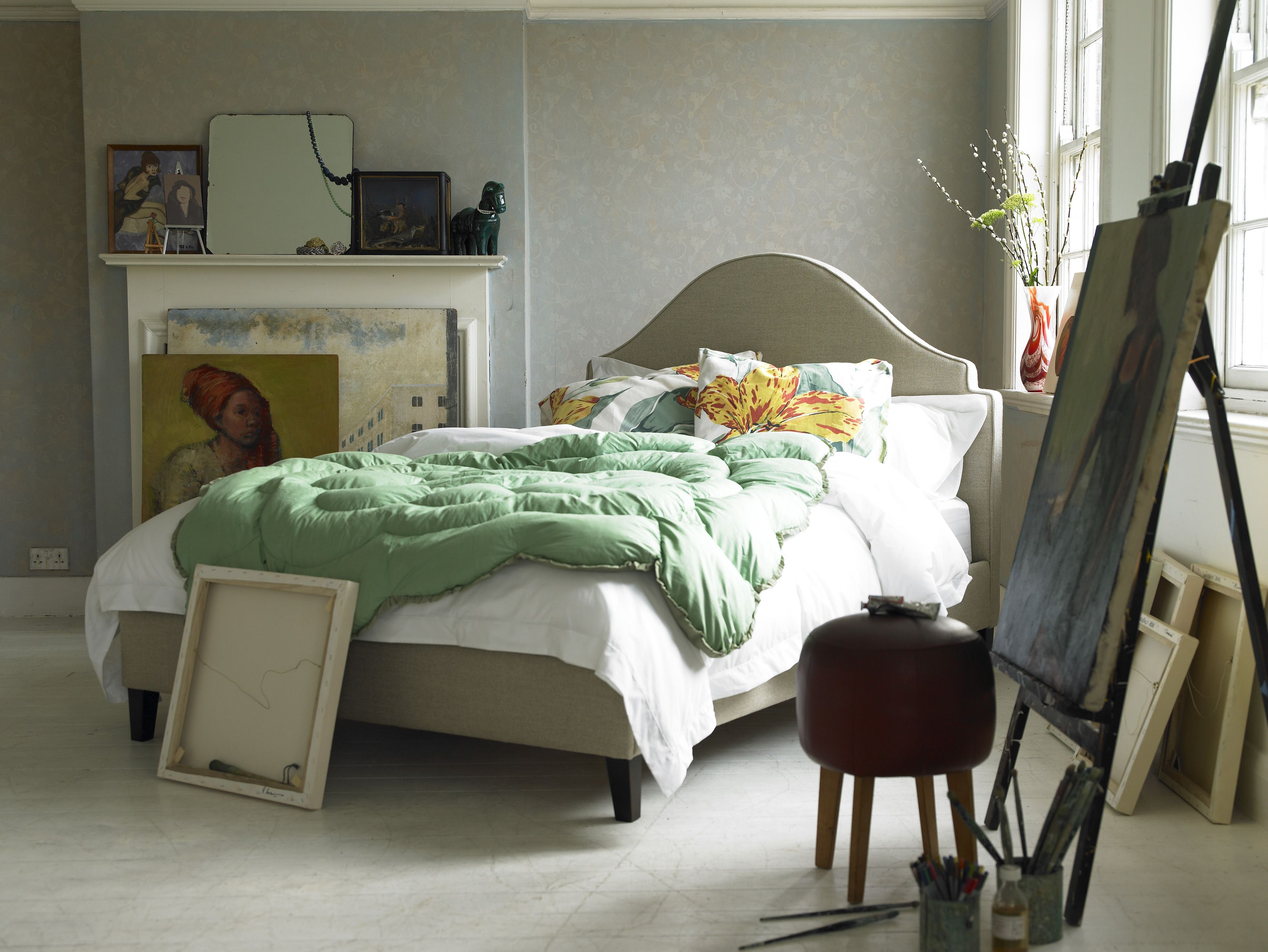 Kandahar double bed in Cookie £645 http://www.sofa.com/shop/beds/all ...