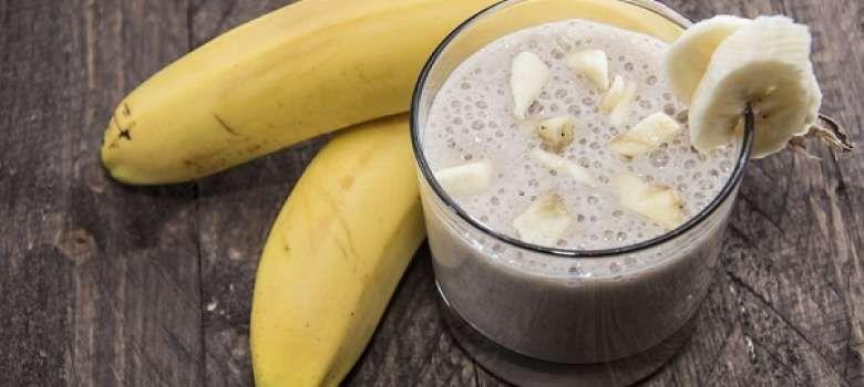 Plátano Batido y jengibre para ayudar a quemar la grasa del estómago.