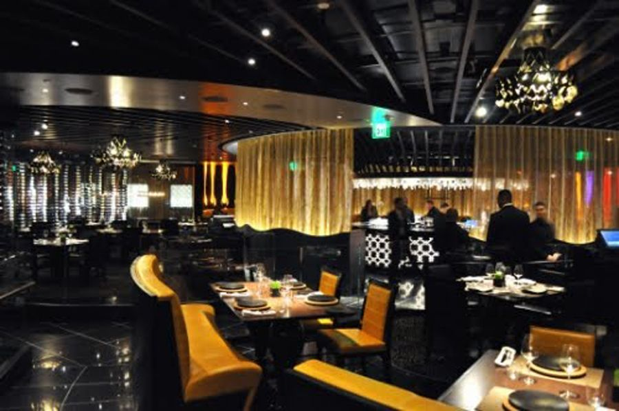 Contemporary and romantic fine dining restaurant interior