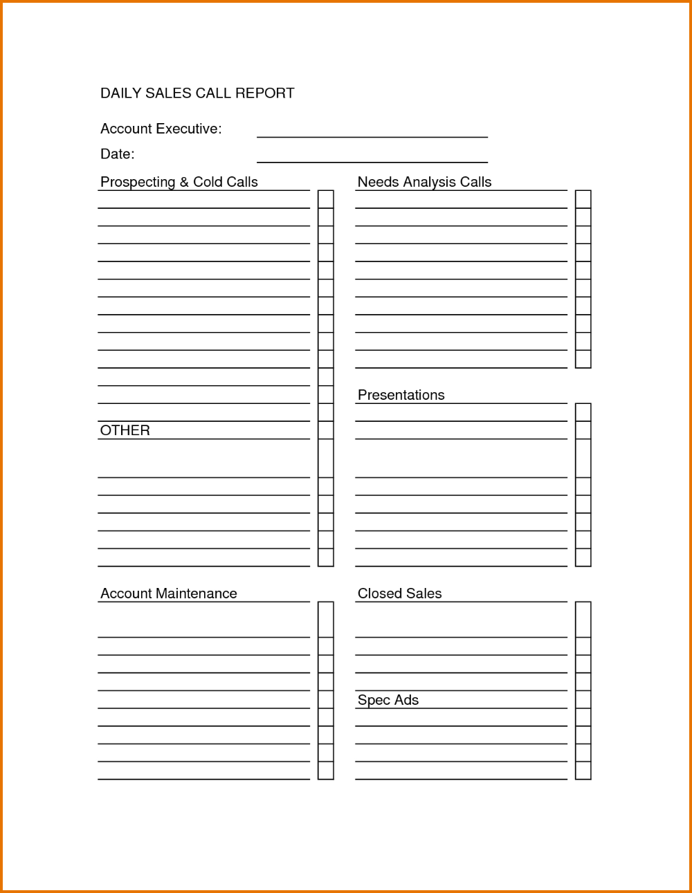 The Marvellous Sales Call Sheets Template Pelit Yasamayolver Pertaining To Customer Visit Report Format Sales Report Template Report Template Best Templates
