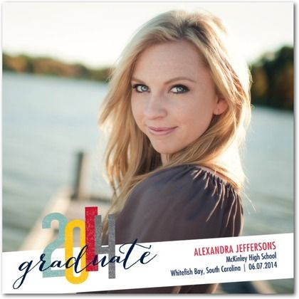 Scripted Splendor - #Graduation Announcements by Petite Alma for Tiny Prints. #classof2014