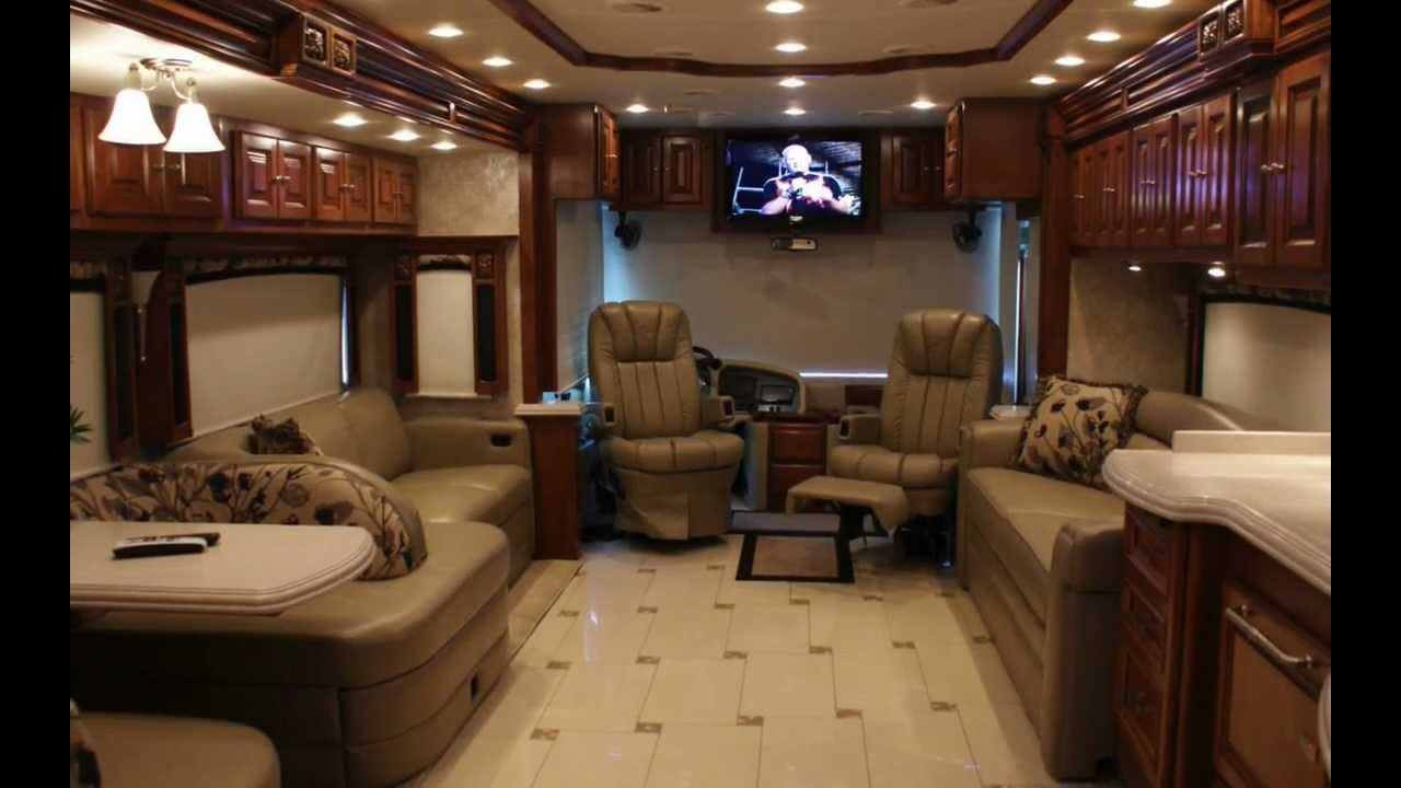 Double Decker Rv Inside Inside Will Smiths Luxurious With Images