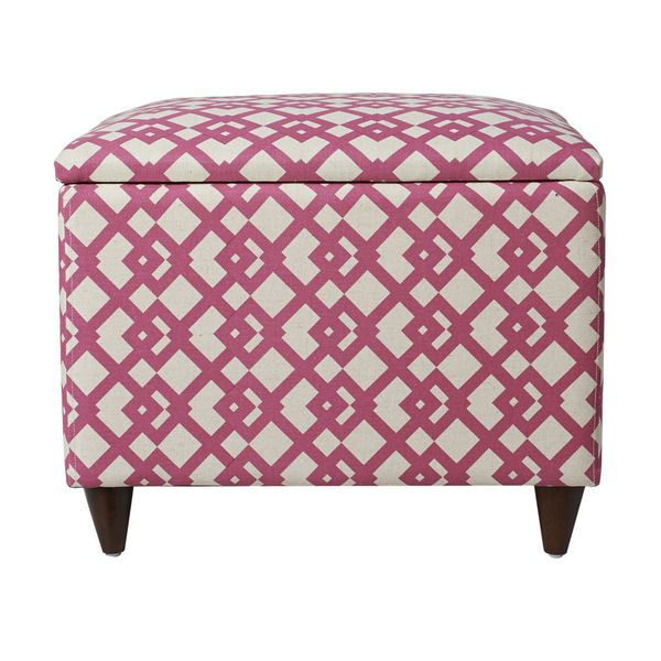 Jennifer Taylor Pink Storage Ottoman | Overstock.com Shopping - The ...
