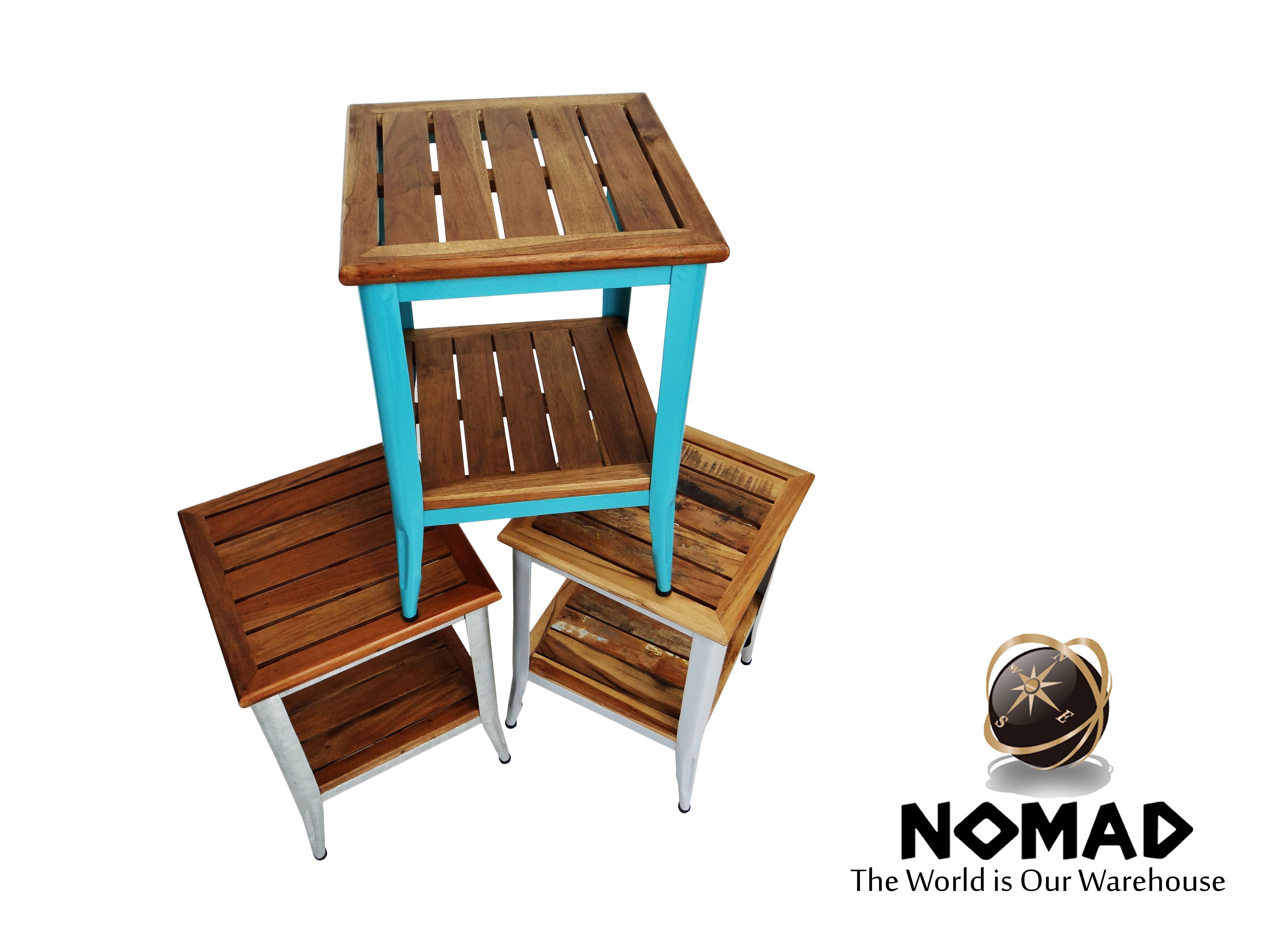 Mesitas En Madera Y Metal En Diferentes Colores Nomad Muebles  # Muebles Diferentes