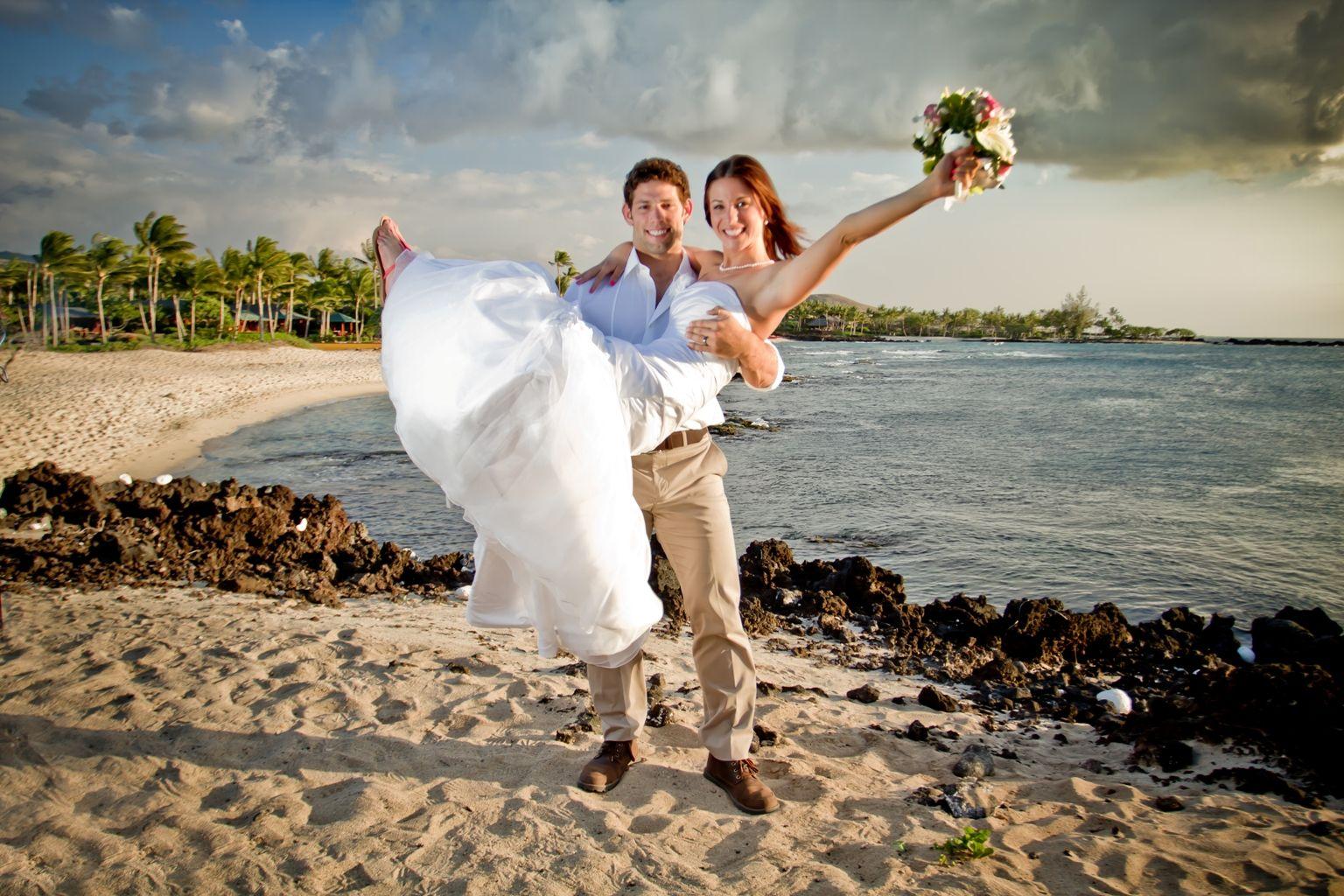 Simple Beach Wedding On The Kohala Coast Of Island Hawaii Kukio Is Accessible From Four Seasons Resort Hualalai