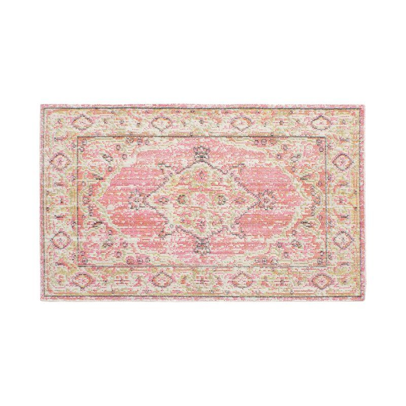 French Connection Jens Colorwashed Pink Green Area Rug Green Area Rugs Area Rugs Pink Area Rug