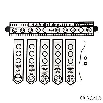 Color Your Own Armor Of God Belt Armor Of God Belt Of Truth