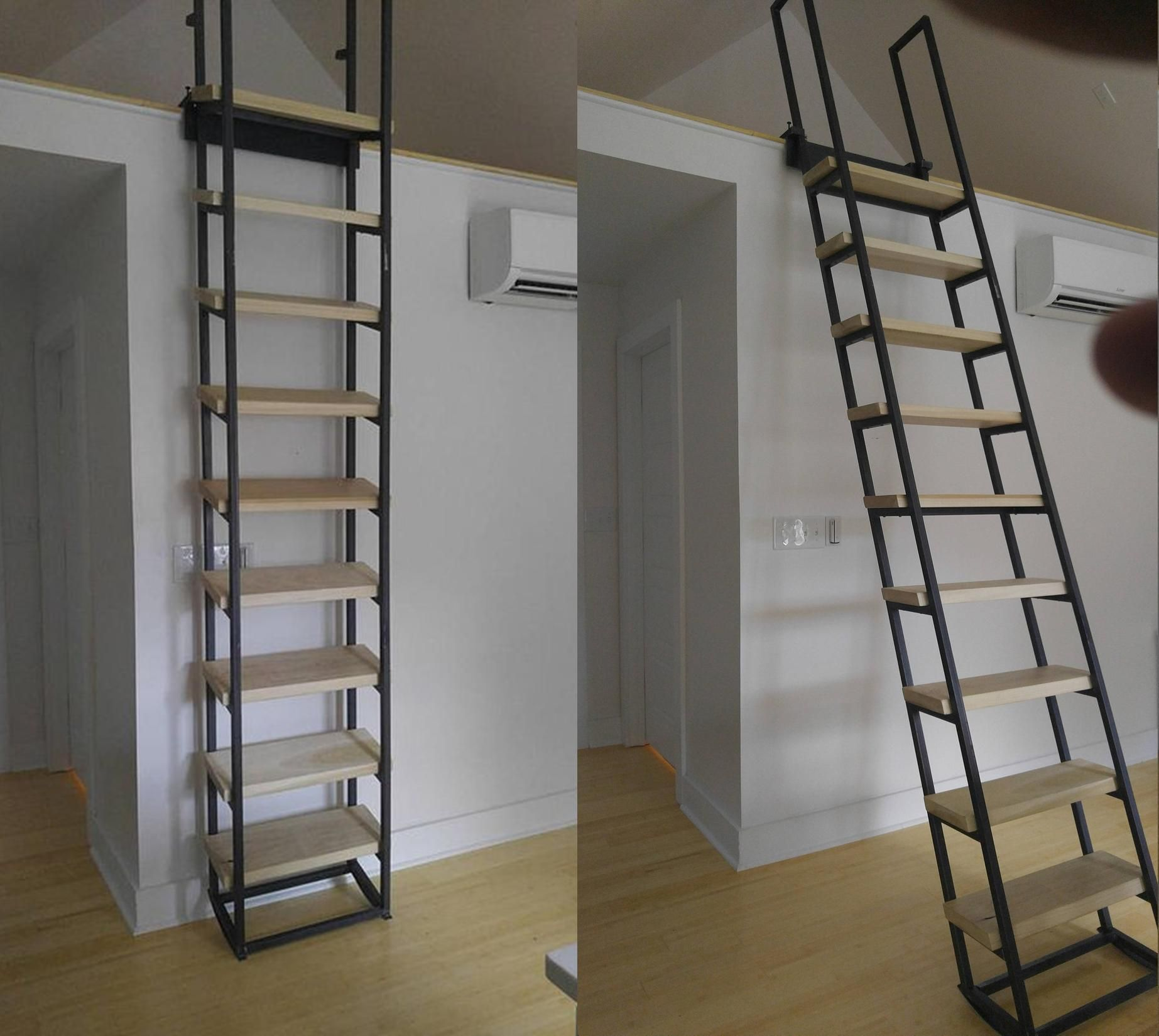 Loft And Librarian Ladder Loft Ladder Small Space Stairs Small Space Staircase