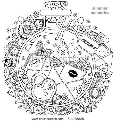 Coloring for adults. Vector Coloring book for adults. A