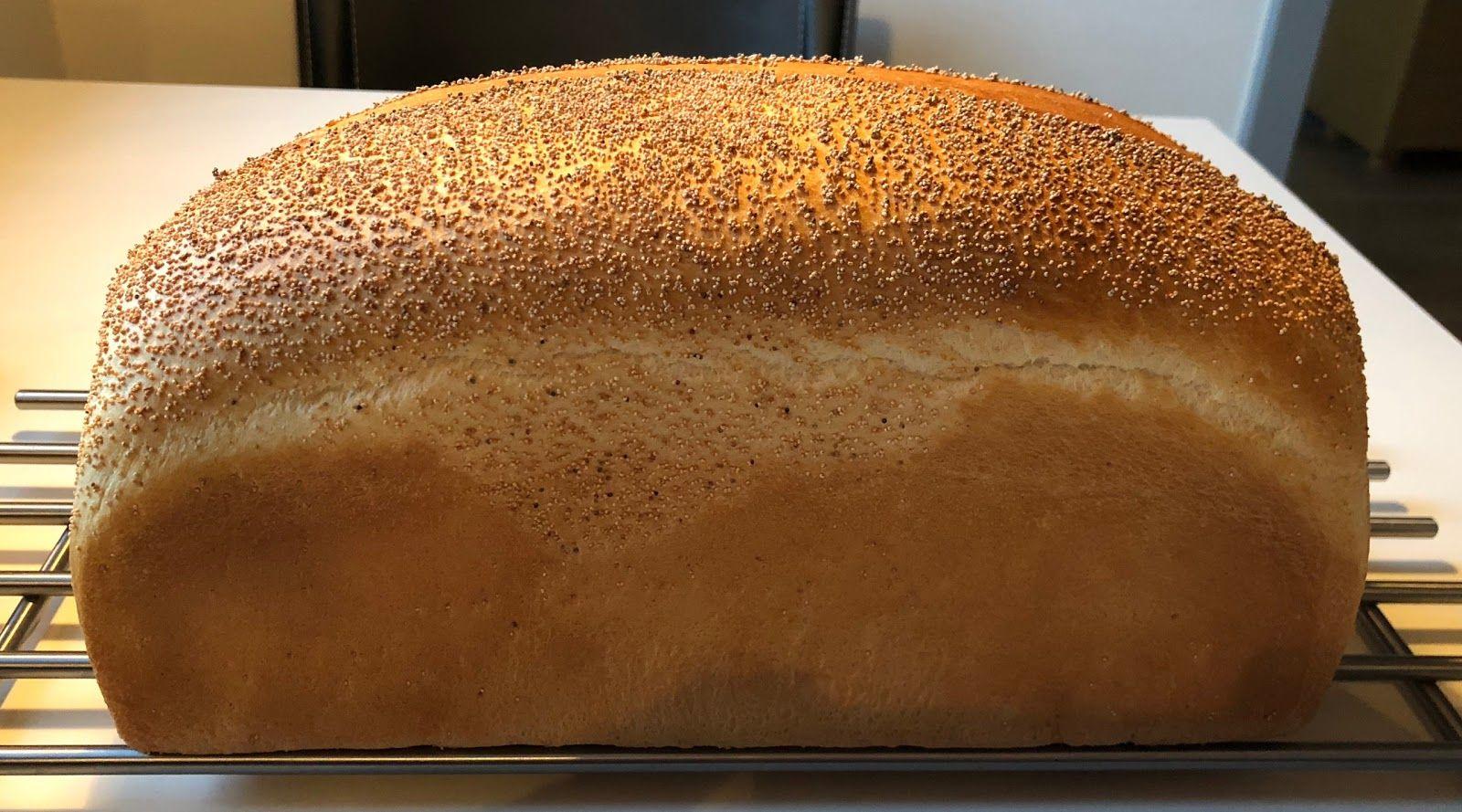 Hvid Hvede Formbrød Bagt I Brødform Ingredienser Til ét Brød