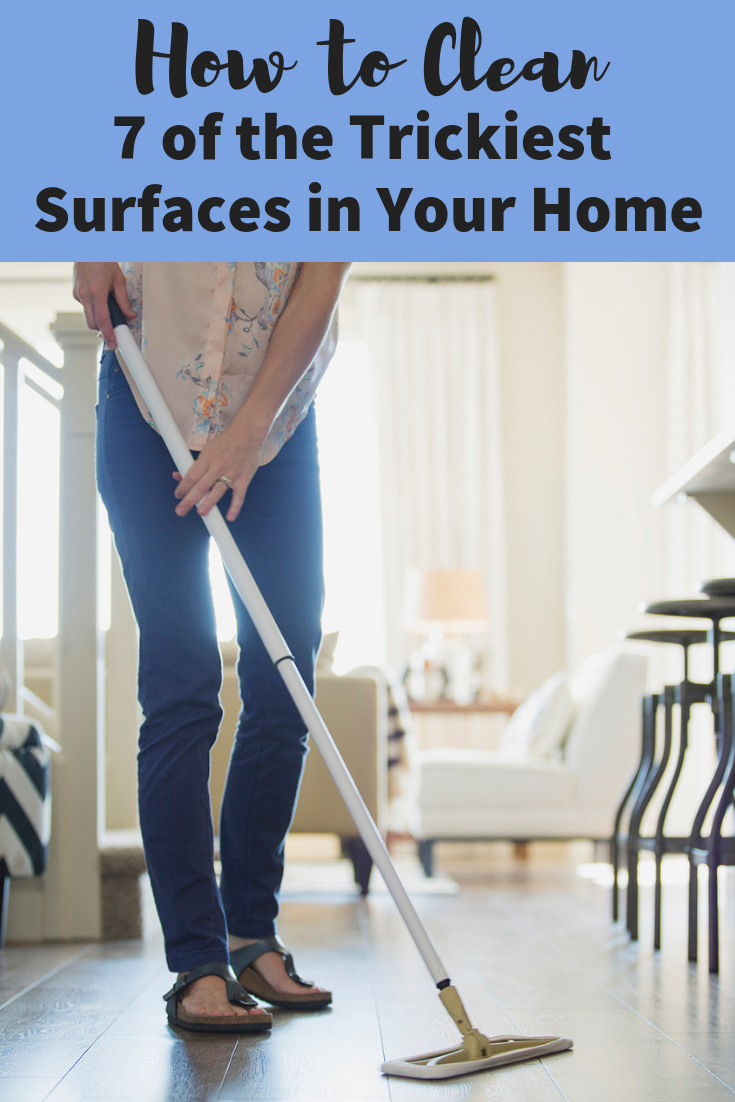 How To Clean 7 Of The Trickiest Surfaces In Your Home According To The Pros How To Clean Granite How To Clean Laminate Flooring Clean Laminate