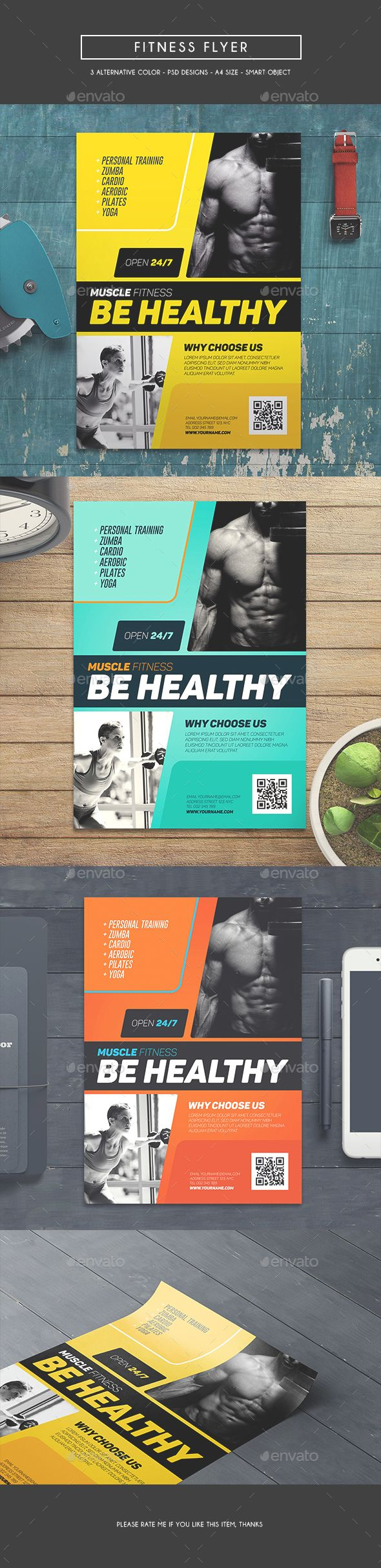 Fitness Flyer Template PSD Download Here Graphicriver
