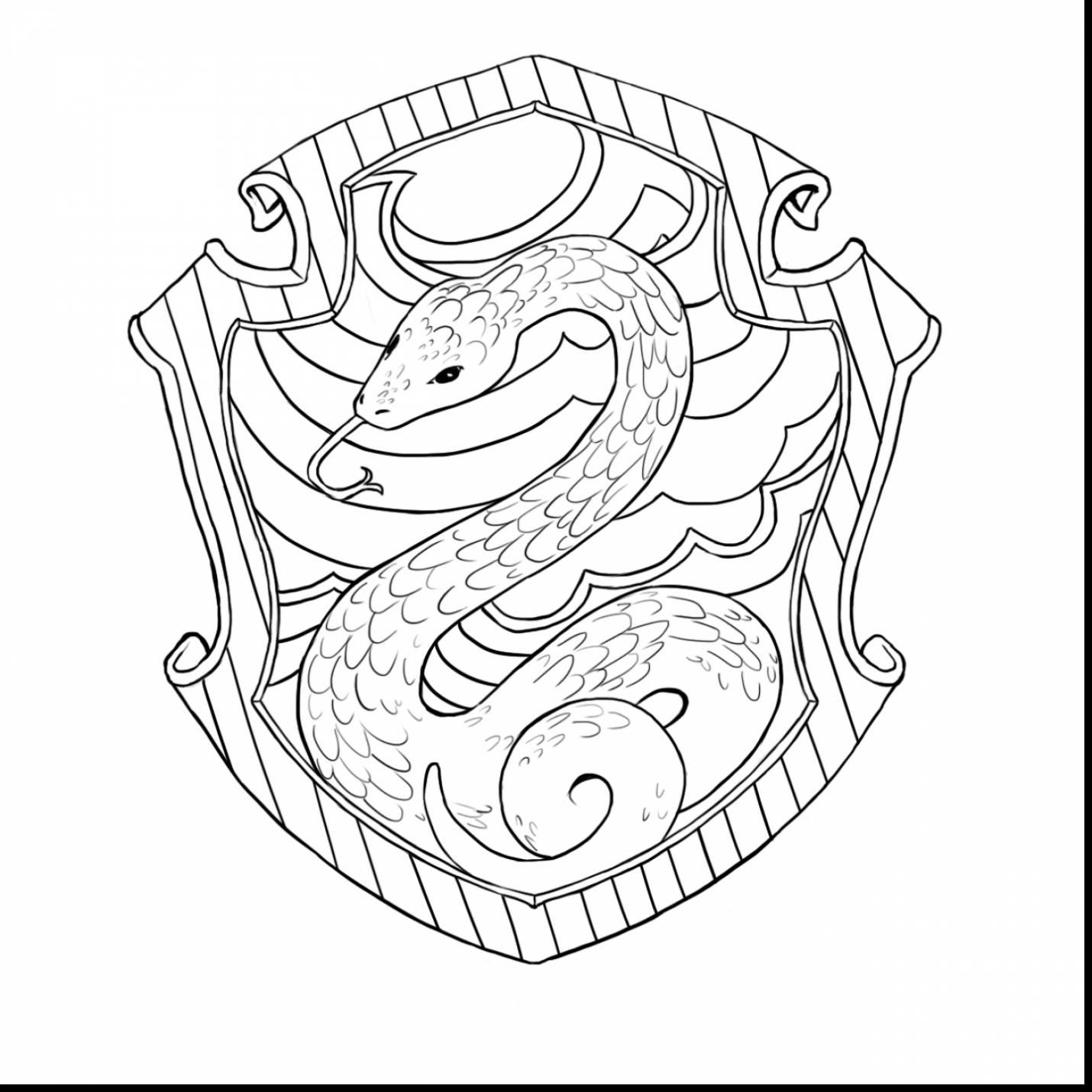 Slytherin Crest Harry Potter Coloring Pages Harry Potter