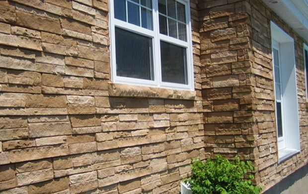 stacking stone panel stacked siding faux panels installation menards