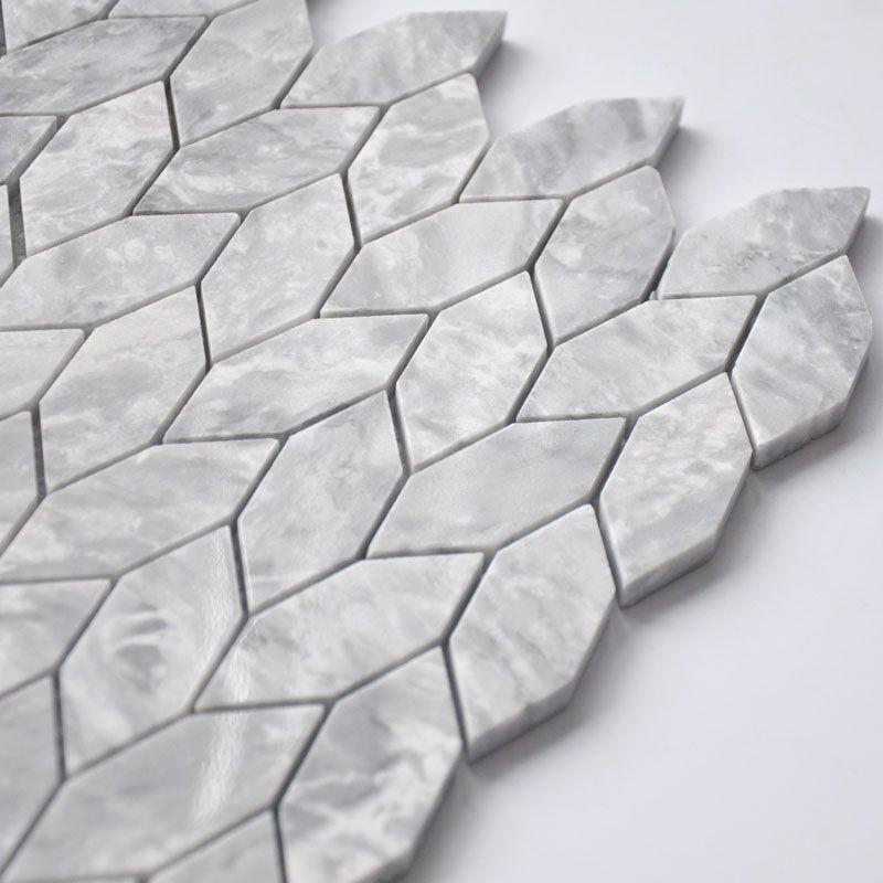 Mosaique En Pierre 31 5x33 Cm Tressia Gris Clair Salle De