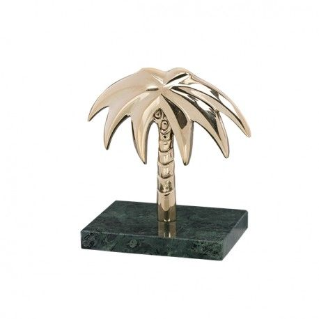 Golden Palmtree With Green Marble Stand Anna Nina