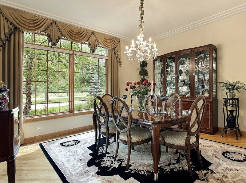 Superbe Formal Dining Room Window Treatments   Traditional Ideas To Try Today