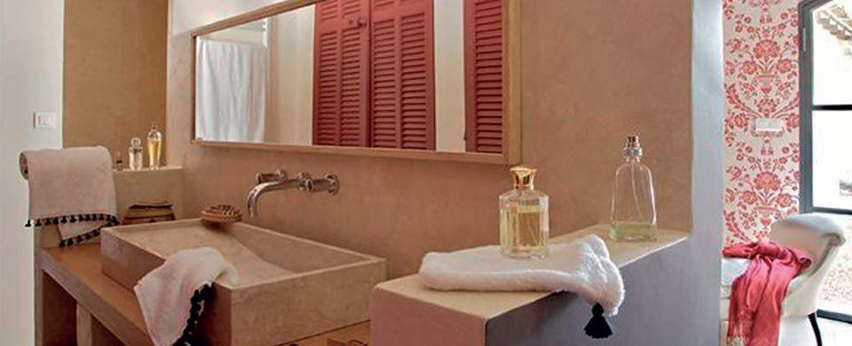 Béton Ciré et Enduit Décoratif pour la salle de bains - enduit salle de bain