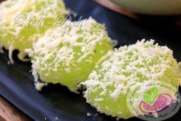 Pichi Pichi With Grated Coconut Recipe Filipino Desserts Coconut Recipes Filipino Food Dessert