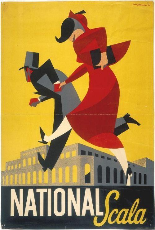 Arne Ungermann Poster Design 'National Gala', 1931.