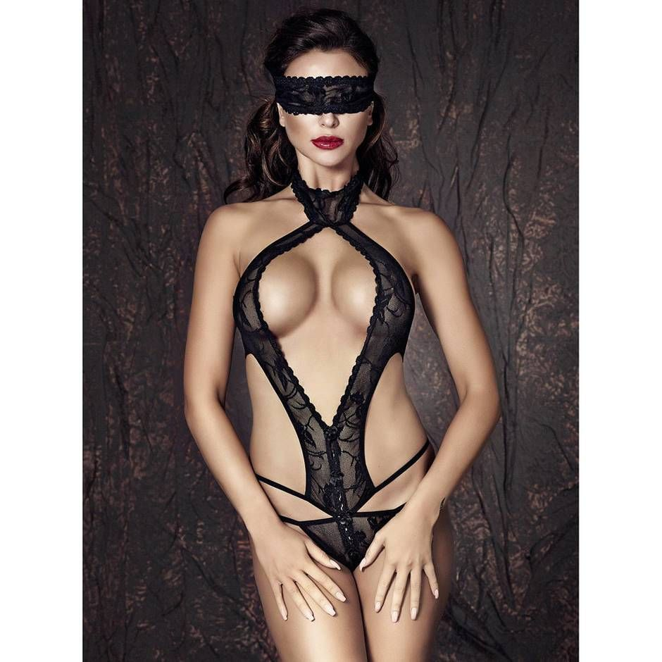 Anais Alexandra anais alexandra lace g-string body with blindfold in 2019