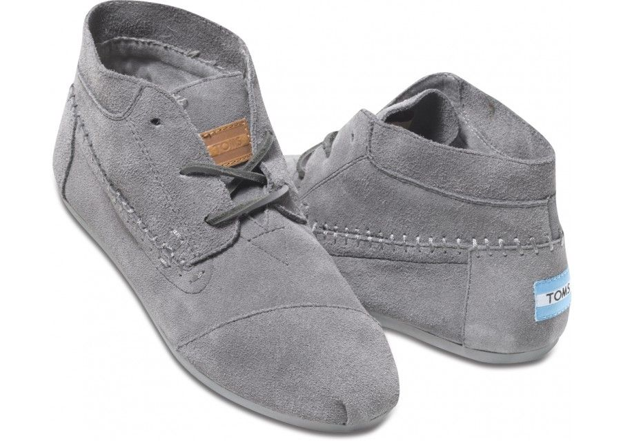 Grey suede boots, Toms shoes