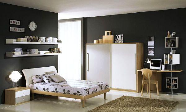 Contemporary White Grey Teenage Boys Rooms Teenage Bedroom