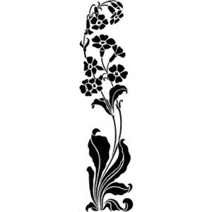Art Nouveau Stencils and Stenciling accessories from The
