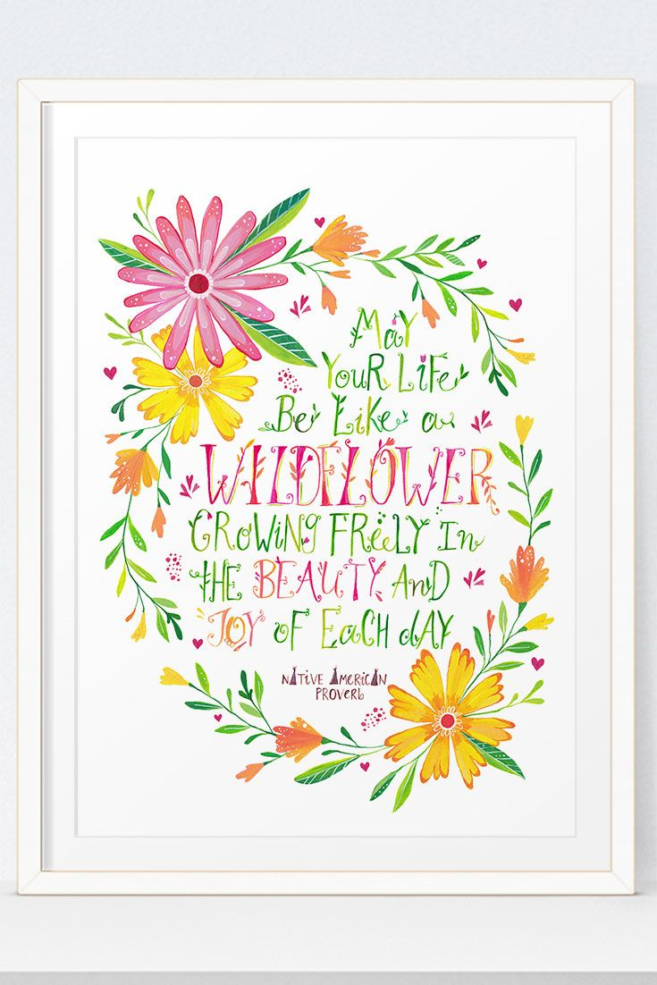 Wildflower Quotes Printable Wall Art | Wildflower Quote | Nursery Wall Art | Girls  Wildflower Quotes