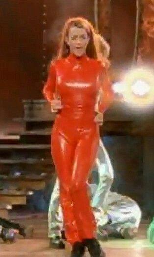 Britney Spears Red Jumpsuit Britney Jean Spears Red