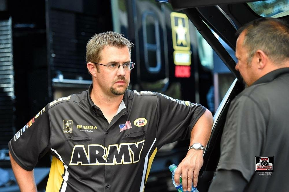 Tony Schumacher pilots the US Army T/F Dragster with DSR Team at The Northwest Nationals.