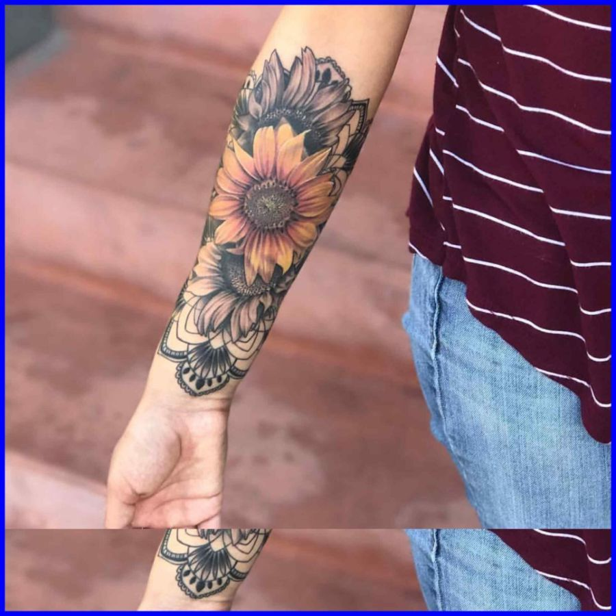 Bracelet tattoo bracelet tattoo meaning incredible sunflower wrist