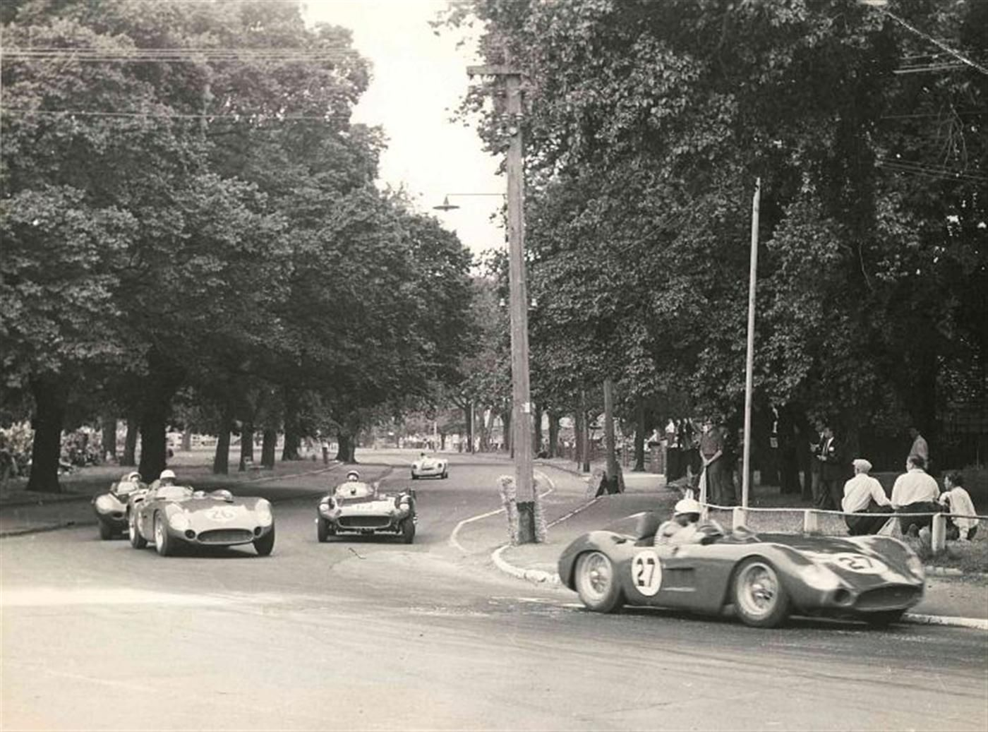 """My home town-check out the lamppost."" KB 1953 Australian Grand Prix on the Albert Park street circuit."