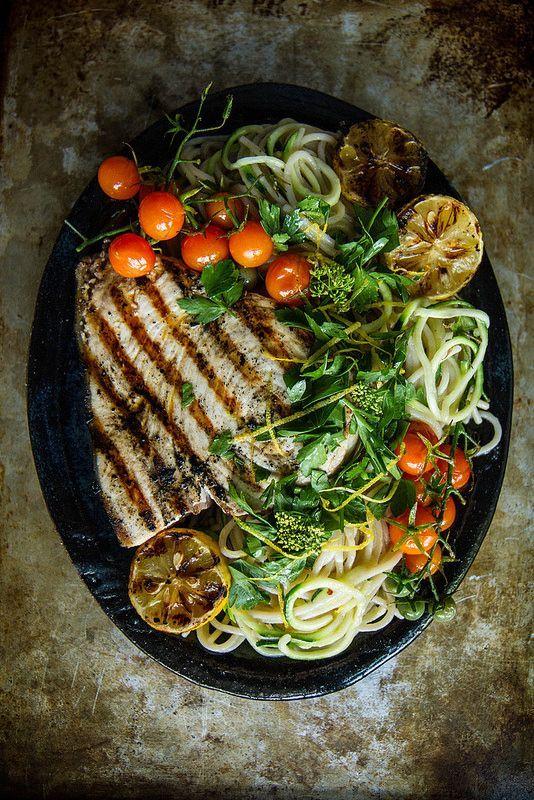 Mediterranean Pasta With Grilled Swordfish Lemons And Gremolata Mediterranean Pasta Grilled