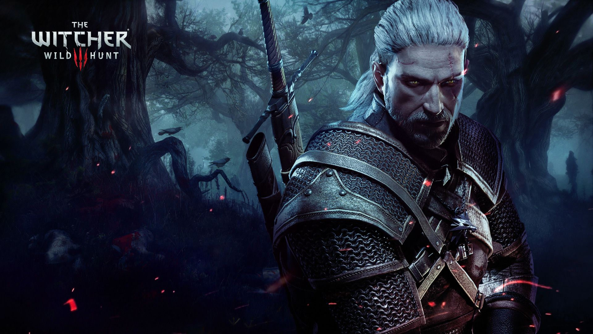 Wallpaper the witcher 3 face geralt closeup 1920x1080
