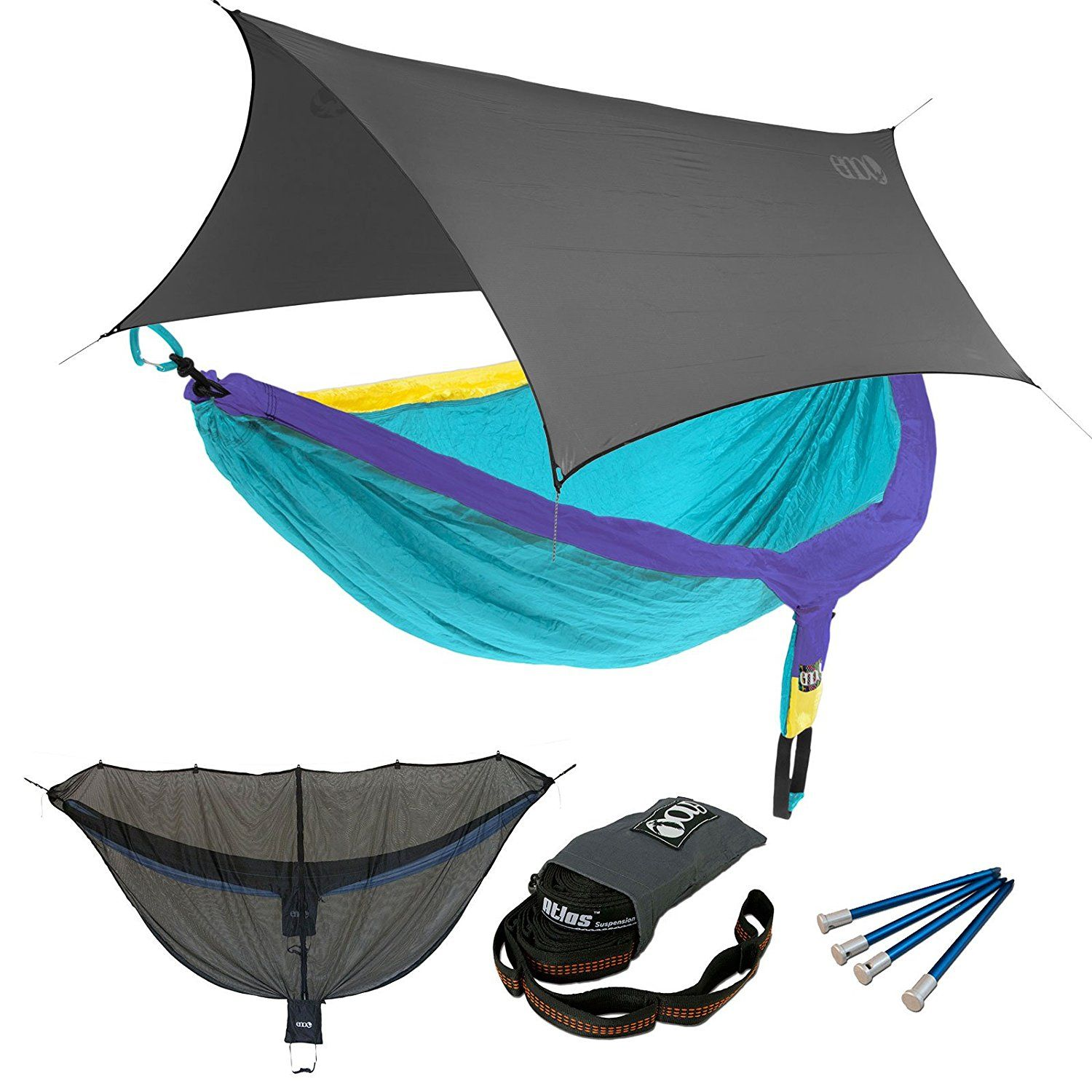 straps doublenest itm slap eno teal camping backpacking with purple hammock k