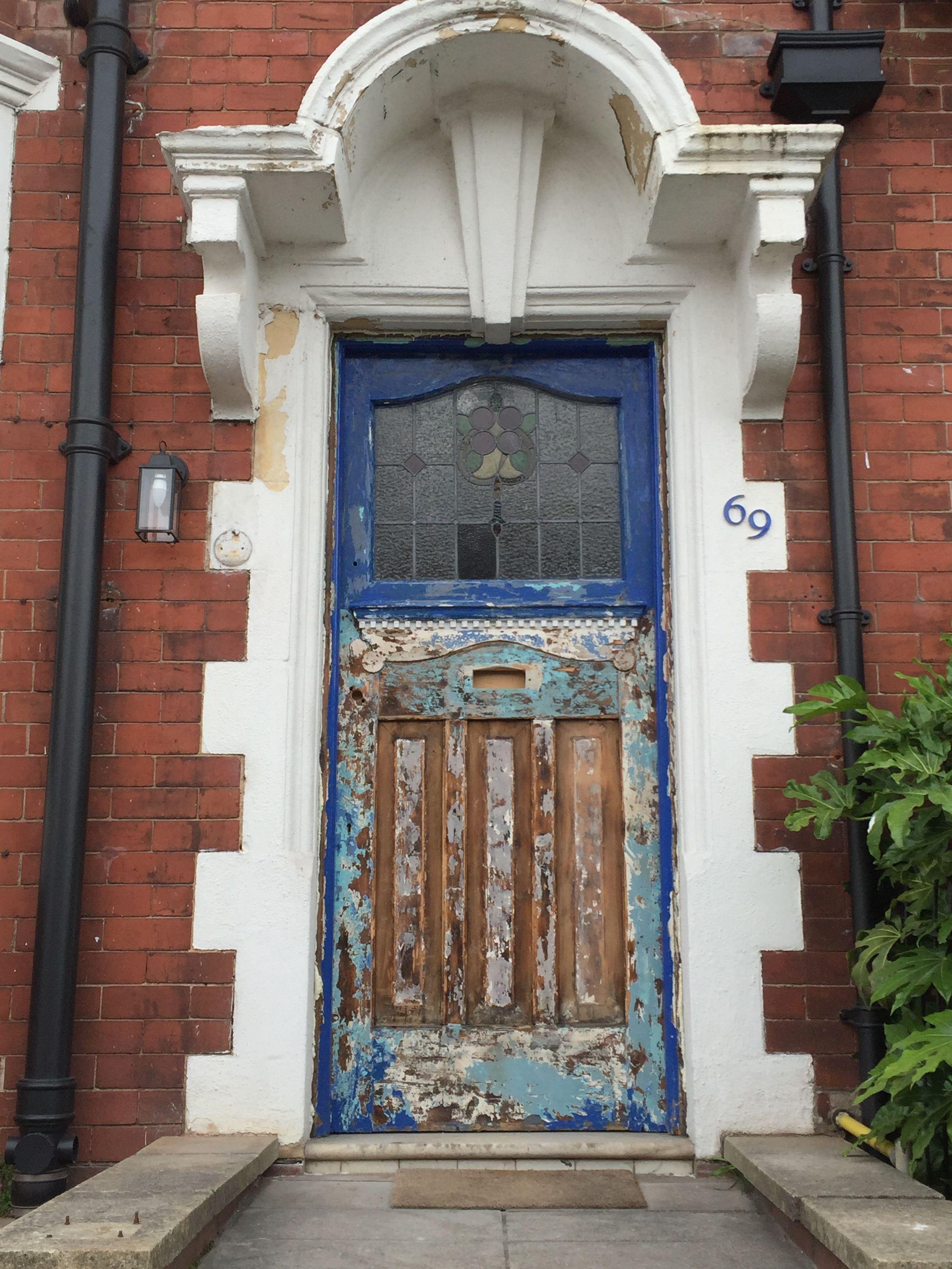 Front Door (during) Edwardian House Restoration