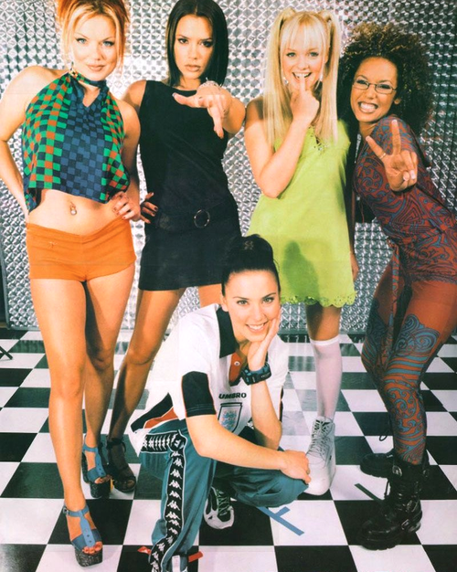 spice girls had this poster. Black Bedroom Furniture Sets. Home Design Ideas
