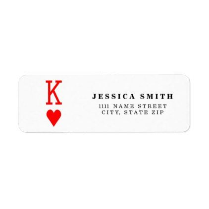 Original ValentineS Day King Of Hearts Symbol Label