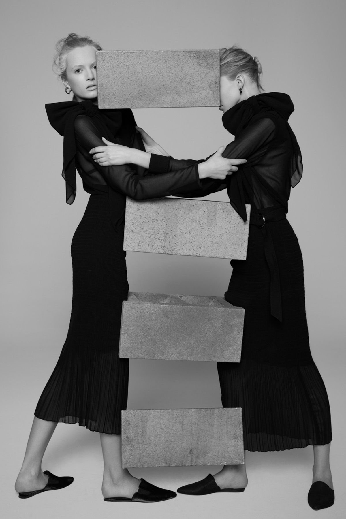 Sasha Luss and Daria Strokous for V Magazine #94, Spring 2015 Photographed by: Pierre Debusschere