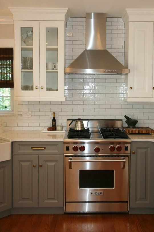 Love The Range, Range Hood, Two Tone Cabinets... Basically Everything!  (upper And Lower Different Finishes, Glass Front Uppers)